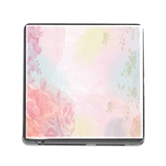 Watercolor Floral Memory Card Reader (square)