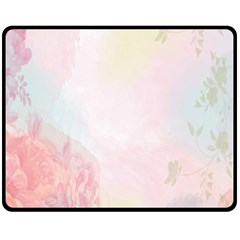 Watercolor Floral Fleece Blanket (medium)  by Nexatart