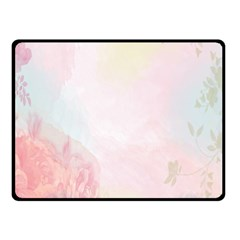 Watercolor Floral Fleece Blanket (small) by Nexatart