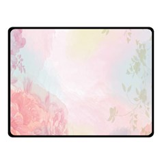 Watercolor Floral Double Sided Fleece Blanket (small)  by Nexatart