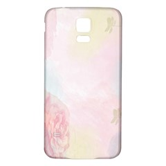 Watercolor Floral Samsung Galaxy S5 Back Case (white)