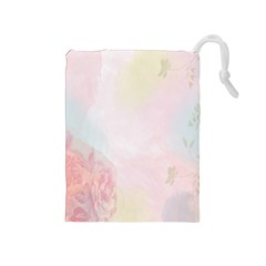 Watercolor Floral Drawstring Pouches (medium)