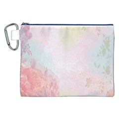 Watercolor Floral Canvas Cosmetic Bag (xxl) by Nexatart