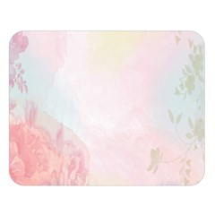 Watercolor Floral Double Sided Flano Blanket (large)  by Nexatart