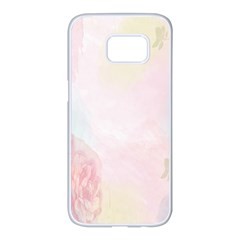 Watercolor Floral Samsung Galaxy S7 Edge White Seamless Case