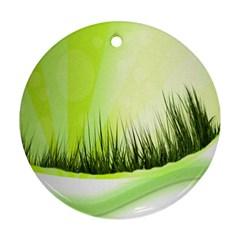 Green Background Wallpaper Texture Ornament (round) by Nexatart