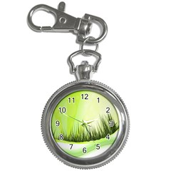 Green Background Wallpaper Texture Key Chain Watches