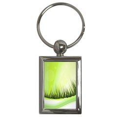 Green Background Wallpaper Texture Key Chains (rectangle)