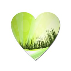 Green Background Wallpaper Texture Heart Magnet by Nexatart