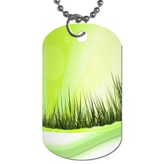 Green Background Wallpaper Texture Dog Tag (one Side)