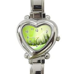 Green Background Wallpaper Texture Heart Italian Charm Watch