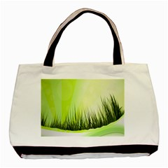 Green Background Wallpaper Texture Basic Tote Bag (two Sides)