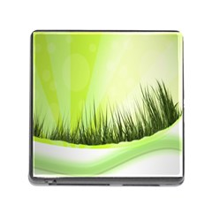 Green Background Wallpaper Texture Memory Card Reader (square)
