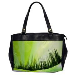 Green Background Wallpaper Texture Office Handbags by Nexatart