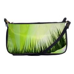 Green Background Wallpaper Texture Shoulder Clutch Bags by Nexatart