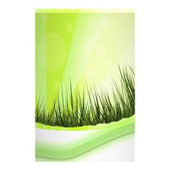 Green Background Wallpaper Texture Shower Curtain 48  X 72  (small)  by Nexatart