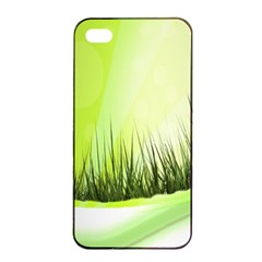 Green Background Wallpaper Texture Apple Iphone 4/4s Seamless Case (black)