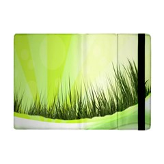 Green Background Wallpaper Texture Apple Ipad Mini Flip Case