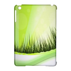 Green Background Wallpaper Texture Apple Ipad Mini Hardshell Case (compatible With Smart Cover) by Nexatart