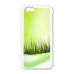 Green Background Wallpaper Texture Apple Iphone 6/6s White Enamel Case by Nexatart