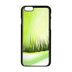 Green Background Wallpaper Texture Apple Iphone 6/6s Black Enamel Case