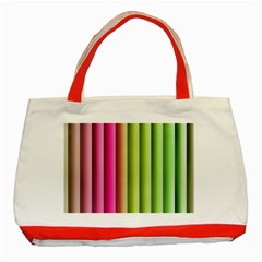 Vertical Blinds A Completely Seamless Tile Able Background Classic Tote Bag (red)