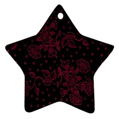 Pink Floral Pattern Background Ornament (star) by Nexatart