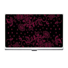 Pink Floral Pattern Background Business Card Holders