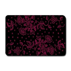 Pink Floral Pattern Background Small Doormat  by Nexatart