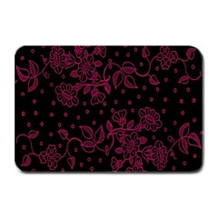 Pink Floral Pattern Background Plate Mats by Nexatart