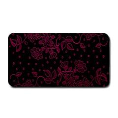 Pink Floral Pattern Background Medium Bar Mats by Nexatart