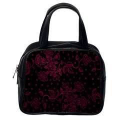 Pink Floral Pattern Background Classic Handbags (one Side)