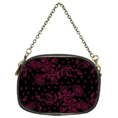 Pink Floral Pattern Background Chain Purses (one Side)  by Nexatart