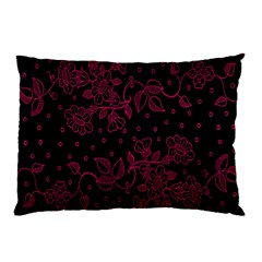 Pink Floral Pattern Background Pillow Case