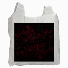 Pink Floral Pattern Background Recycle Bag (one Side)