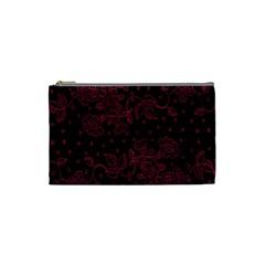 Pink Floral Pattern Background Cosmetic Bag (small)  by Nexatart