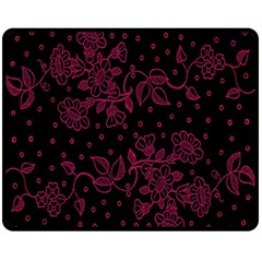 Pink Floral Pattern Background Fleece Blanket (medium)  by Nexatart