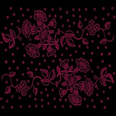Pink Floral Pattern Background Magic Photo Cubes by Nexatart