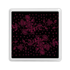 Pink Floral Pattern Background Memory Card Reader (square)  by Nexatart