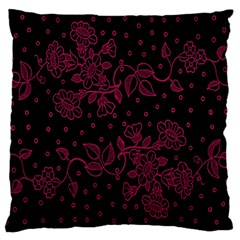 Pink Floral Pattern Background Large Cushion Case (two Sides) by Nexatart