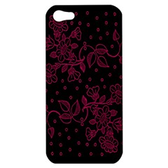 Pink Floral Pattern Background Apple Iphone 5 Hardshell Case