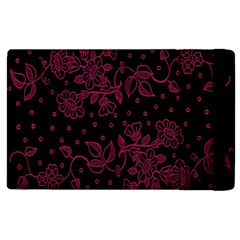 Pink Floral Pattern Background Apple Ipad 2 Flip Case by Nexatart