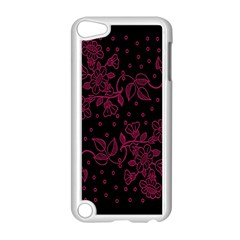 Pink Floral Pattern Background Apple Ipod Touch 5 Case (white) by Nexatart