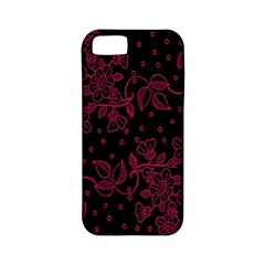 Pink Floral Pattern Background Apple Iphone 5 Classic Hardshell Case (pc+silicone) by Nexatart