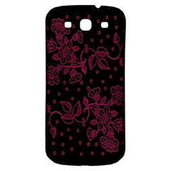 Pink Floral Pattern Background Samsung Galaxy S3 S Iii Classic Hardshell Back Case by Nexatart