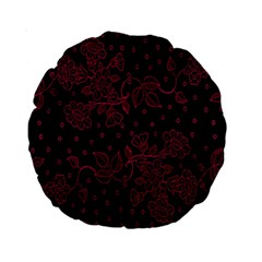 Pink Floral Pattern Background Standard 15  Premium Round Cushions