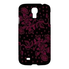 Pink Floral Pattern Background Samsung Galaxy S4 I9500/i9505 Hardshell Case by Nexatart