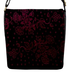 Pink Floral Pattern Background Flap Messenger Bag (s)