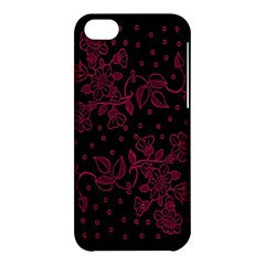 Pink Floral Pattern Background Apple Iphone 5c Hardshell Case by Nexatart