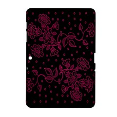 Pink Floral Pattern Background Samsung Galaxy Tab 2 (10 1 ) P5100 Hardshell Case